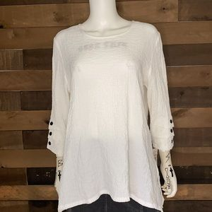 Alfred Dunner White 3/4 Sleeve Top